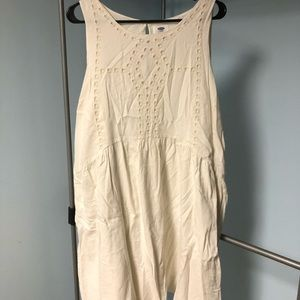 Simple Cream mini Dress